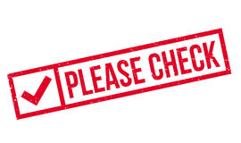 Please Check rubber stamp Stock Image