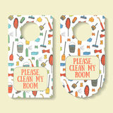 Please, clean my room banner for door interior Stock Photo