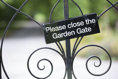 please close the gate Royalty Free Stock Images