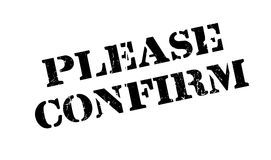 Please Confirm rubber stamp Royalty Free Stock Photo