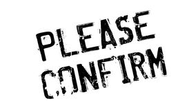 Please Confirm rubber stamp Royalty Free Stock Photography