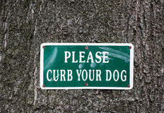 Please Curb Your Dog Sign Royalty Free Stock Photos