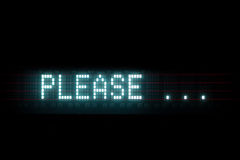 Please digital message Royalty Free Stock Photo