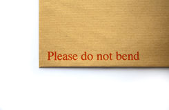 Please Do Not Bend Royalty Free Stock Photo