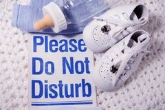 Please do not Disturb Baby Royalty Free Stock Images