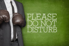 Please do not disturb on blackboard with Stock Image