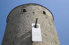 Please Do Not Disturb / Chateau De Yverdon-Les-Bains. This is the beautiful castle of Yverdon-Les-Bains in Switzerland. The castle is located in the French Stock Photo