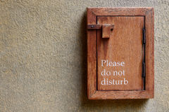 Please do not disturb sign Stock Image