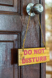 Please do not disturb sign Royalty Free Stock Image