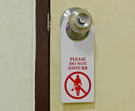 Please do not disturb signs. Royalty Free Stock Photo
