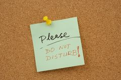 Please do not disturb! Royalty Free Stock Photography