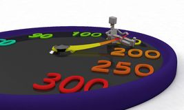 Please do not speed,background 3d render royalty free illustration