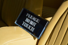Please do not touch sign. Royalty Free Stock Photography