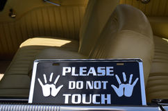 Please do not touch sign Stock Photos