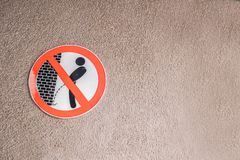 Please do not urinate here, sign royalty free stock image