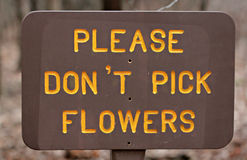 Please Don't Pick the Flowers Royalty Free Stock Images