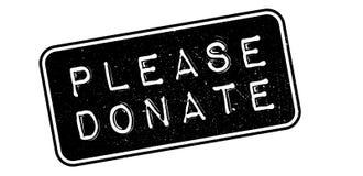 Please Donate rubber stamp Stock Photo