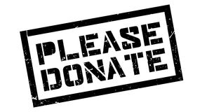 Please Donate rubber stamp Stock Images