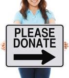 Please Donate royalty free stock photo