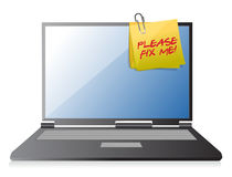 Please fix me on a laptop Royalty Free Stock Photo