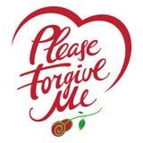 Please forgive me Stock Image