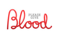 Please give blood vector Royalty Free Stock Image