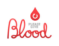 Please give blood vector Stock Image