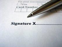 please här undertecknar Royaltyfri Bild