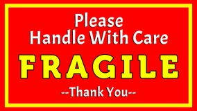 Please Handle With Care - Fragile - Thank you 002 stock images