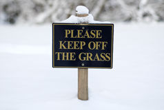 Please keep off the grass sign Stock Photos
