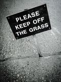 Please keep off the grass sign Stock Images