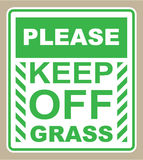 Please Keep off the Grass Sign vector Stock Image