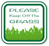 Please Keep Off The Grass Royalty Free Stock Photography