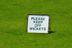 Please keep out off wickets Royalty Free Stock Images