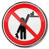 Please keep products out of reach from children Royalty Free Stock Images