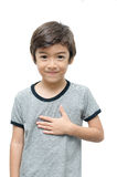 Please kid hand sign language Stock Image