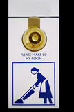 Please Make Up Room. Isolated please make up room sign in a hotel Royalty Free Stock Image