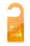 Please Make Up Room hotel sign. Illustration stock illustration