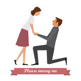 Please marry me. Stock Images