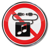 Please no headphones and music Royalty Free Stock Image
