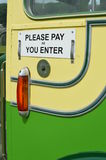Please pay as you enter sign. Royalty Free Stock Images