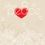Please peace Stock Photography