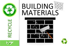 Please recycle building materials Stock Images