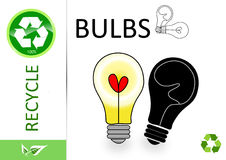 Please recycle bulbs Royalty Free Stock Image