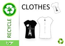 Please recycle clothes Royalty Free Stock Image