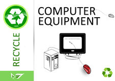 Please recycle computer equipment Royalty Free Stock Photography