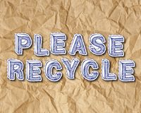 Please Recycle Crumbled Paper Royalty Free Stock Images