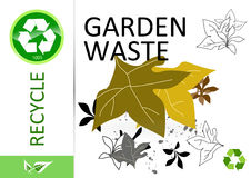 Please recycle garden waste Stock Image