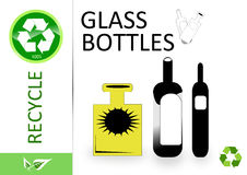 Please recycle glass and bottle Stock Photo