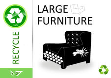 Please recycle large furniture Royalty Free Stock Photo